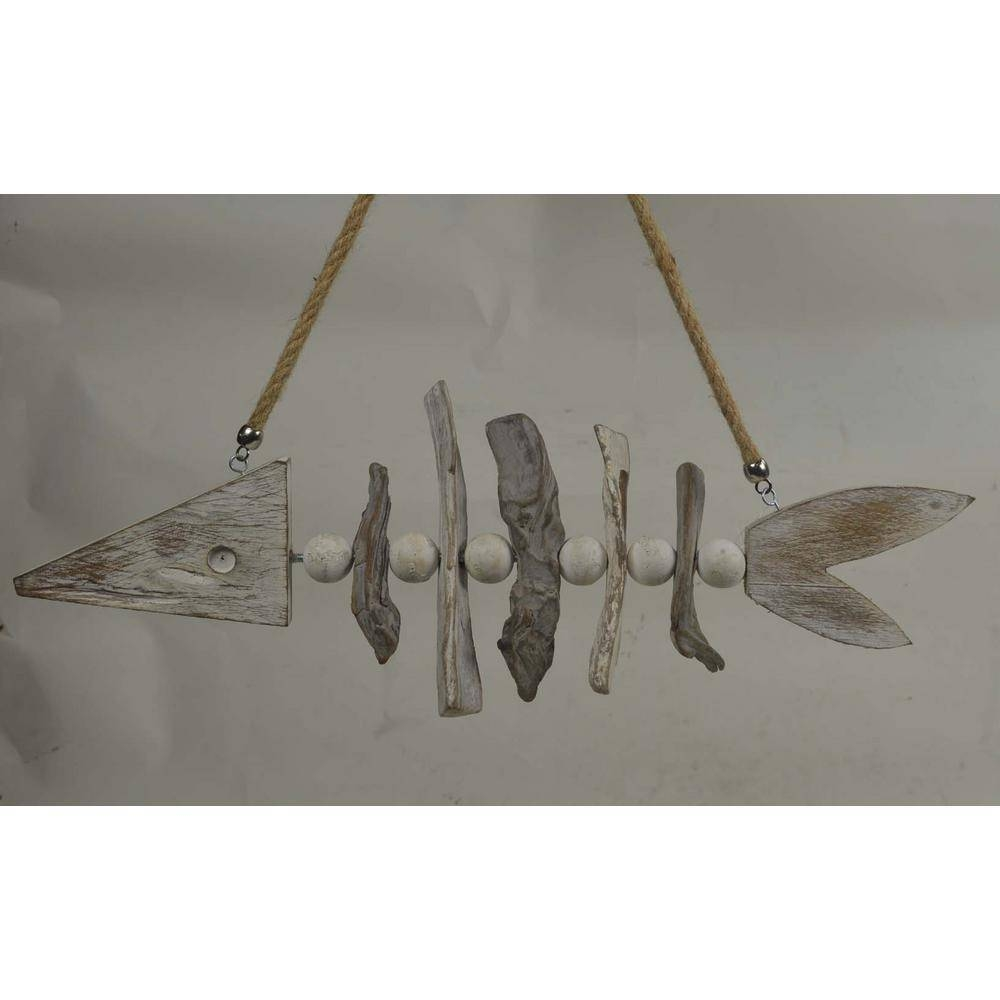 Sculpture Fish Bone Wooden Wall Art Fb65412 – The Home Depot For Current Fish Bone Wall Art (View 18 of 20)