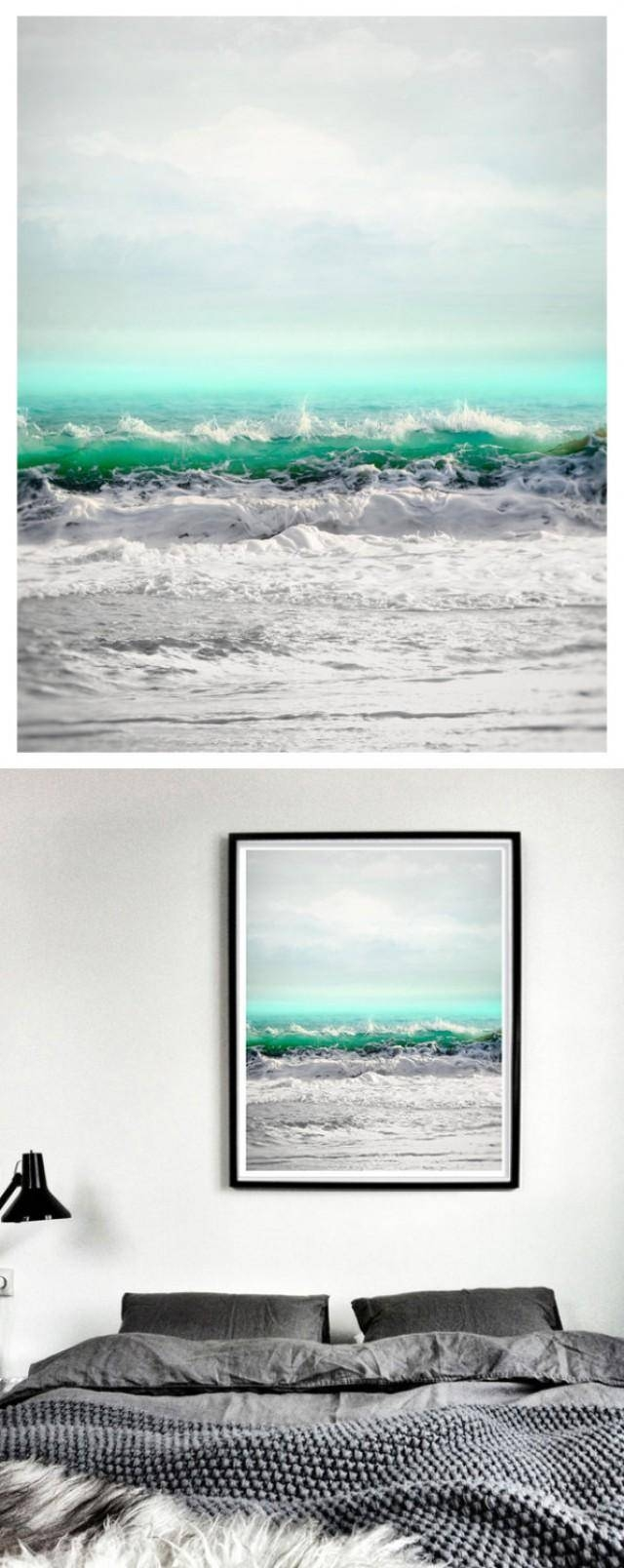 Sea Art Print, Extra Large Wall Art, Seascape Art, Oversized Ocean For Latest Coastal Wall Art (View 11 of 12)
