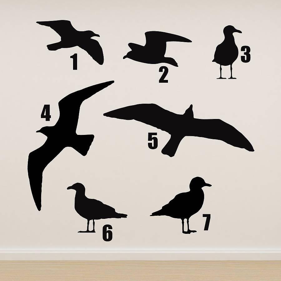 Seagull Vinyl Wall Stickeroakdene Designs | Notonthehighstreet Inside Newest Metal Wall Art Flock Of Seagulls (View 8 of 30)