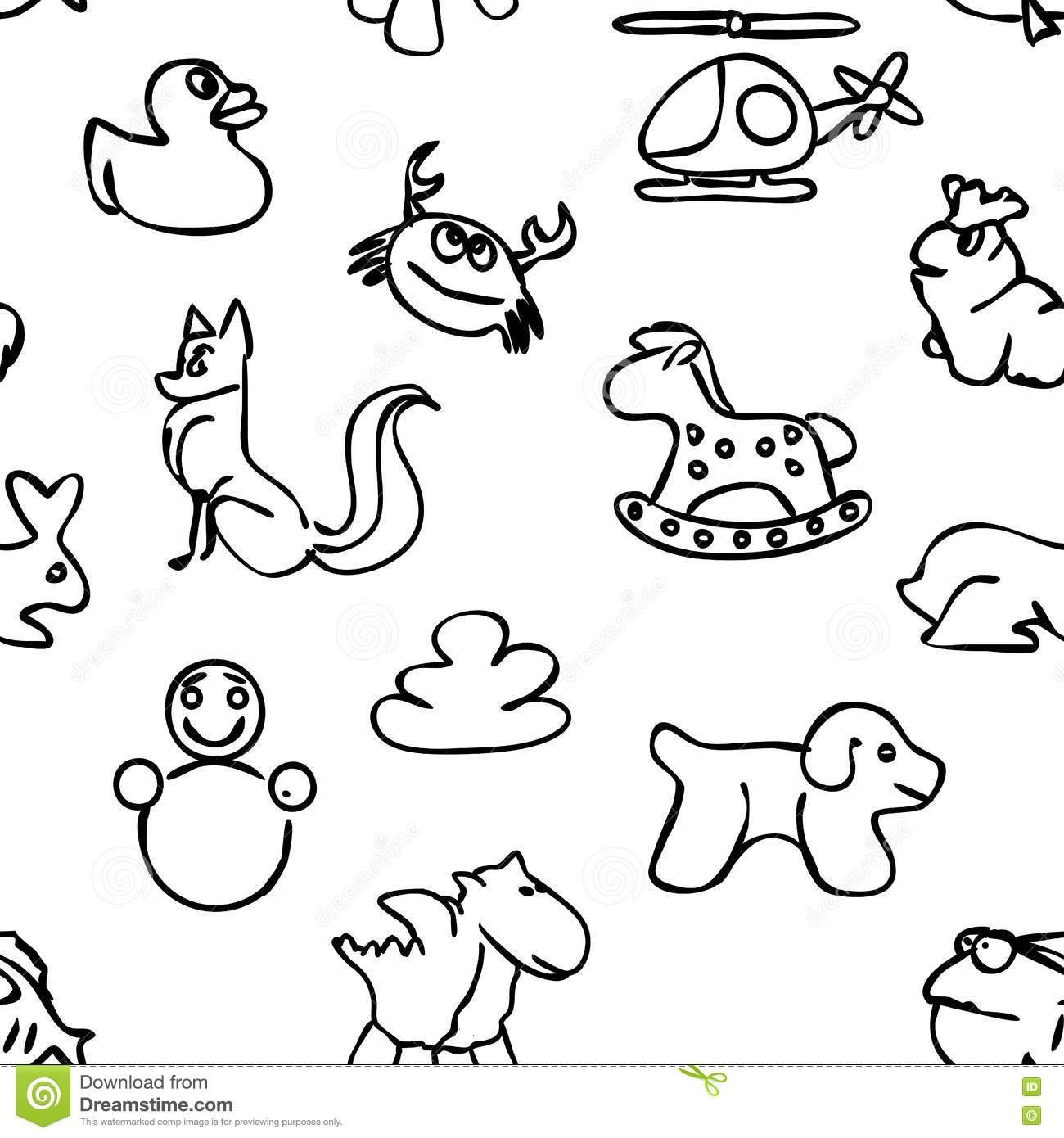 Seamless Kids Wall Art Doodles Pattern Stock Vector – Image: 72755758 For Most Current Pattern Wall Art (View 13 of 20)