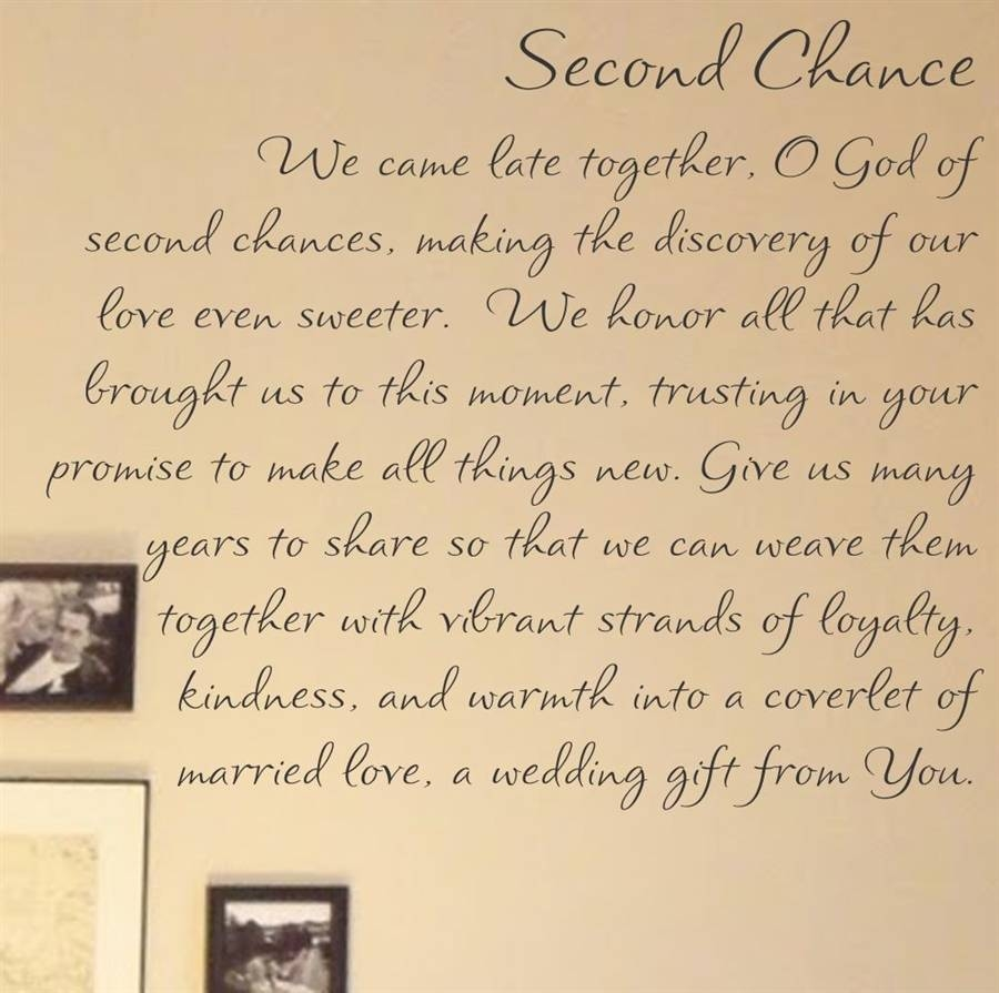 Second Chance We Came Late Together, O God Of Second Chances Inside Most Recently Released Bible Verses Wall Art (View 24 of 30)