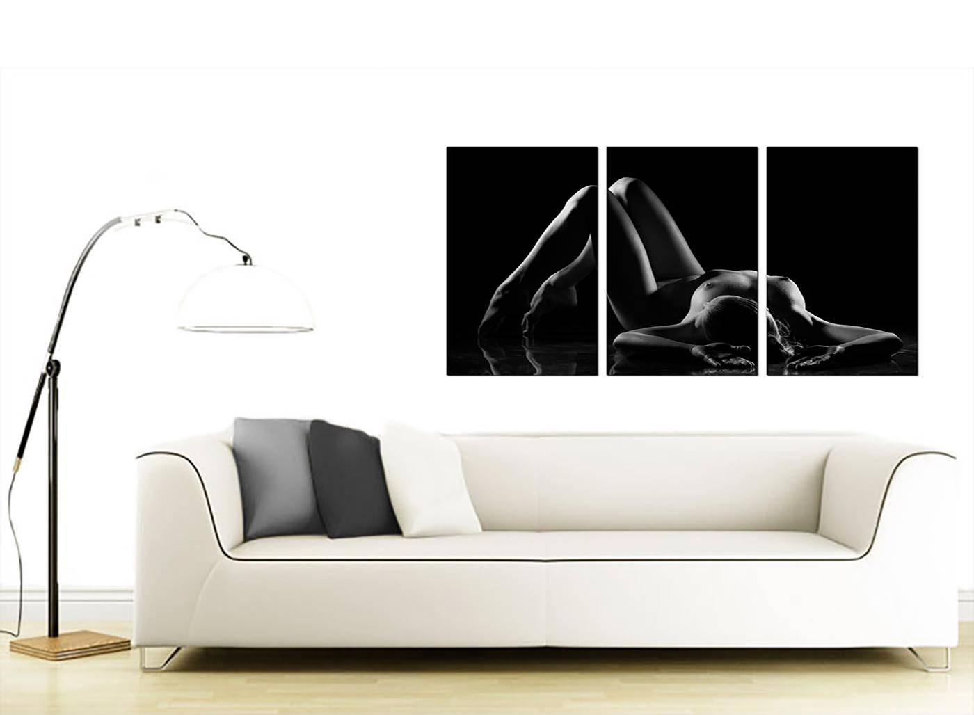 Sensual Woman Canvas Wall Art Set Of Three For Your Bedroom Within Most Popular Sensual Wall Art (View 15 of 20)