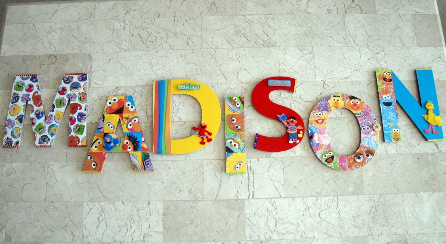 Sesame Street Wall Letters Sesame Street Nursery Letters Inside Most Recent Playroom Wall Art (View 23 of 30)
