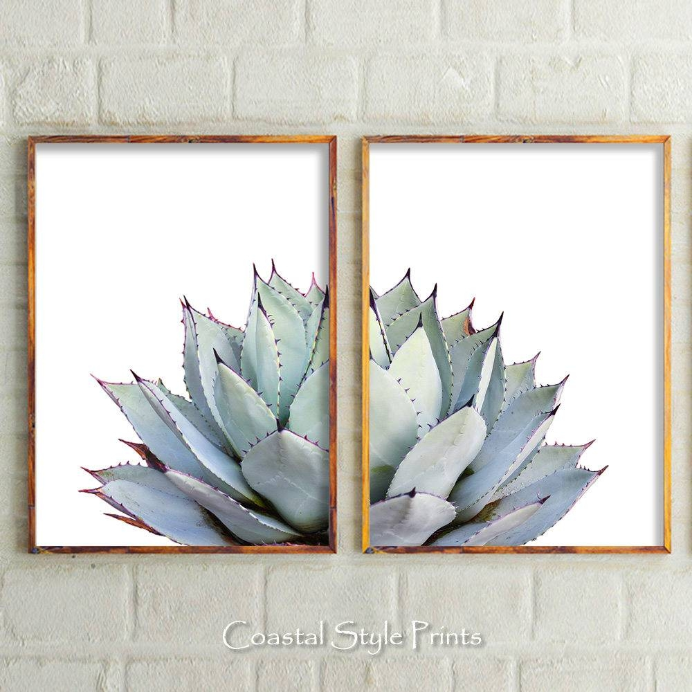 Set Of 2 Prints Cactus Print Cactus Botanical Print Cactus Within Latest Wall Art Print Sets (View 12 of 20)