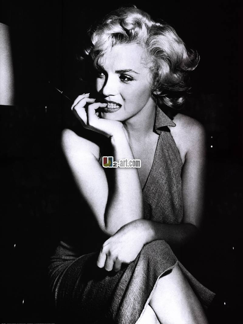 Sexy Marilyn Monroe Painting Old Photo Reproduction Canvas Prints For Best And Newest Marilyn Monroe Framed Wall Art (View 21 of 22)