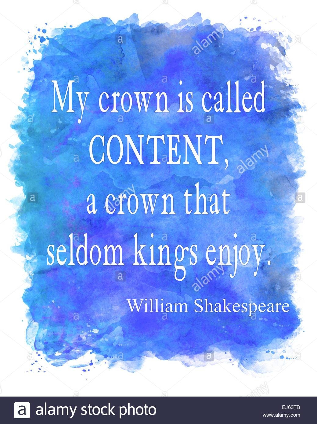 Shakespeare Content Watercolor Motivational Quote | Wall Art Stock Throughout Most Up To Date Shakespeare Wall Art (View 3 of 20)