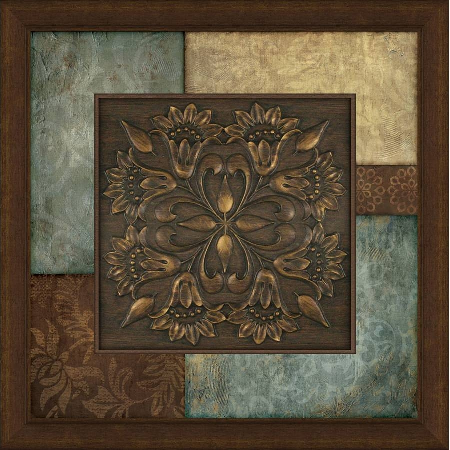 Shop 27 In W X 27 In H Abstract Prints Wall Art At Lowes With Best And Newest Turquoise And Brown Wall Art (View 2 of 25)