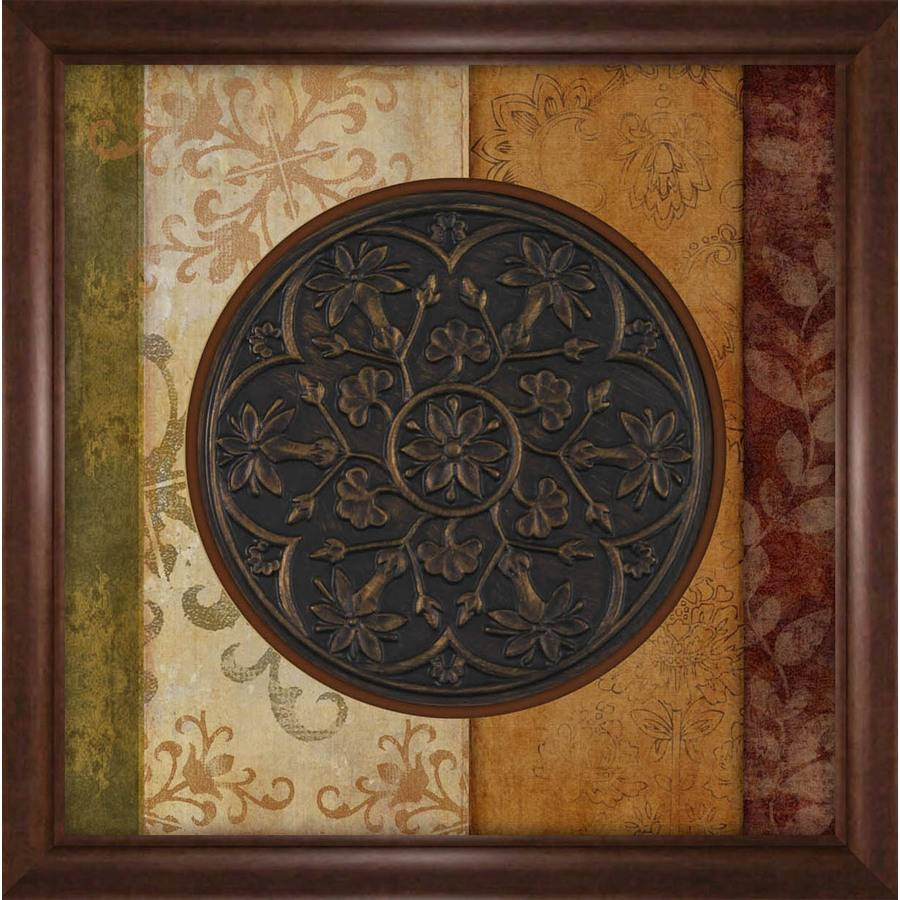 Shop 27 In W X 27 In H Abstract Prints Wall Art At Lowes With Most Popular Brown Framed Wall Art (View 12 of 20)