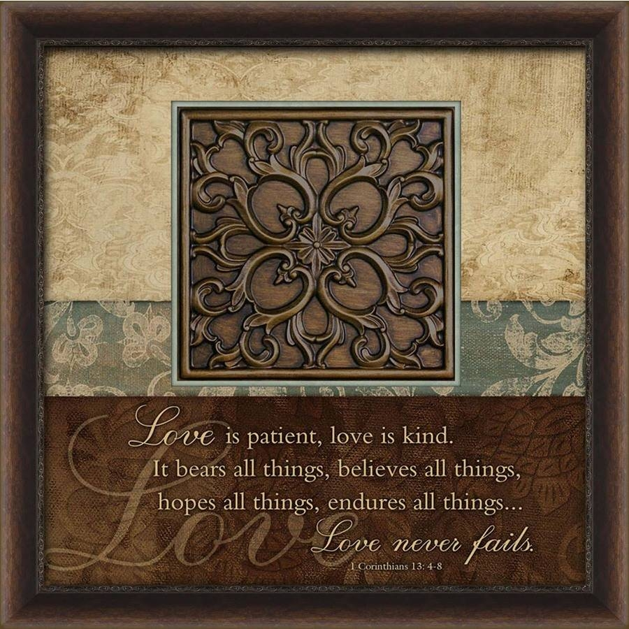Shop 27 In W X 27 In H Inspirational Prints Wall Art At Lowes For 2018 Brown Framed Wall Art (View 13 of 20)