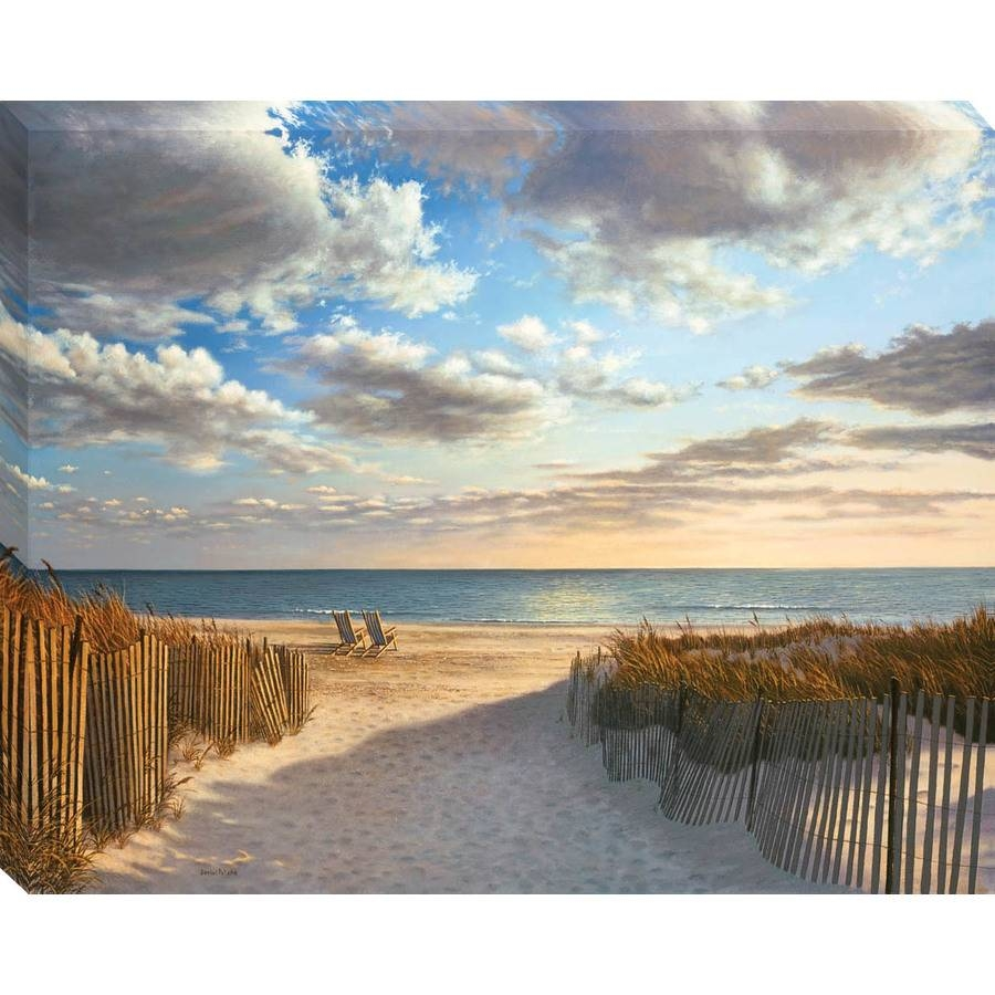 """Shop 30"""" X 38"""" Sunset Beach Canvas Wall Art At Lowes Intended For Most Recently Released Beach Wall Art (View 12 of 15)"""
