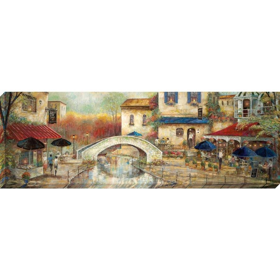 Shop 36 In W X 12 In H Frameless Canvas Cityscape Print Wall Art Pertaining To Most Recently Released Cityscape Canvas Wall Art (View 18 of 20)