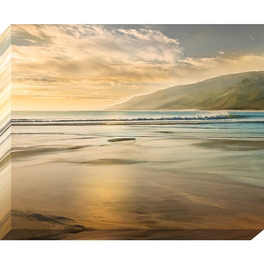 Shop 37 In W X 30 In H Frameless Canvas Coastal Print Wall Art At In Latest Coastal Wall Art Canvas (View 11 of 20)