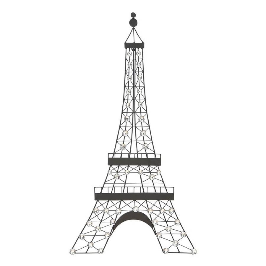 Shop Woodland Imports 18 In W X 32 In H Frameless Metal Eiffel In Latest Metal Eiffel Tower Wall Art (View 22 of 30)