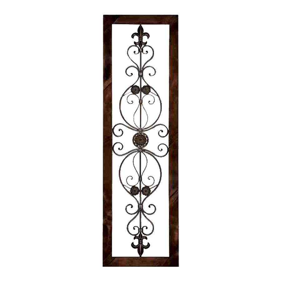 Shop Woodland Imports 18 In W X 62 In H Framed Metal Wall Plaque Regarding Most Popular Rectangular Metal Wall Art (View 16 of 20)