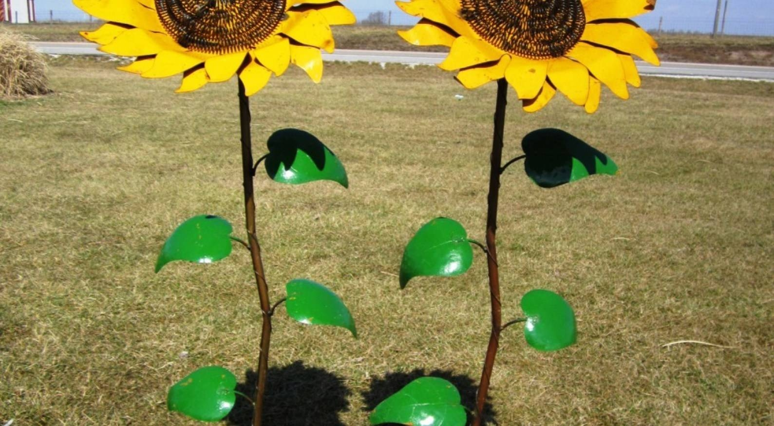 Signs : Art Sculptures And Objects In The Garden Beautiful Metal Intended For Best And Newest Metal Sunflower Yard Art (View 6 of 26)