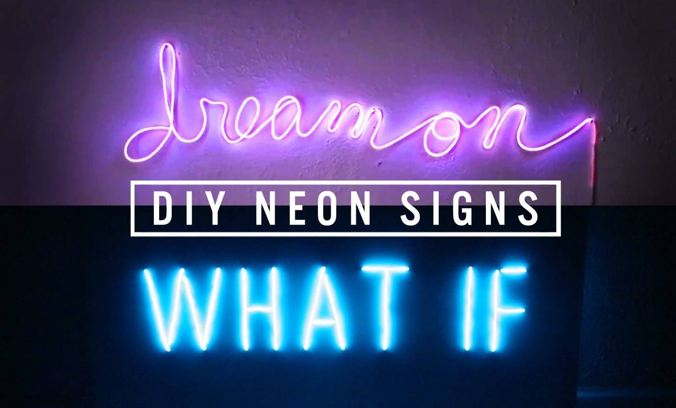 Signs : Elegant Neon Light Wall Art 47 With Additional Burlington Throughout Newest Electronic Wall Art (View 17 of 25)