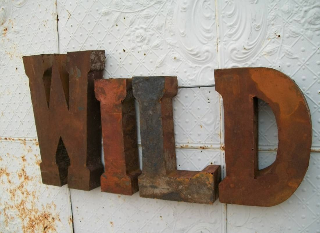 Signs : Fancy Decorative Metal Letters Wall Art 99 With Additional With Most Popular Turquoise And Brown Wall Art (View 17 of 25)