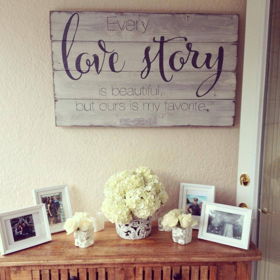Signs : Reclaimed Wooden Word Art Wonderful Custom Wall Signs Life For Most Up To Date Wood Word Wall Art (View 17 of 22)
