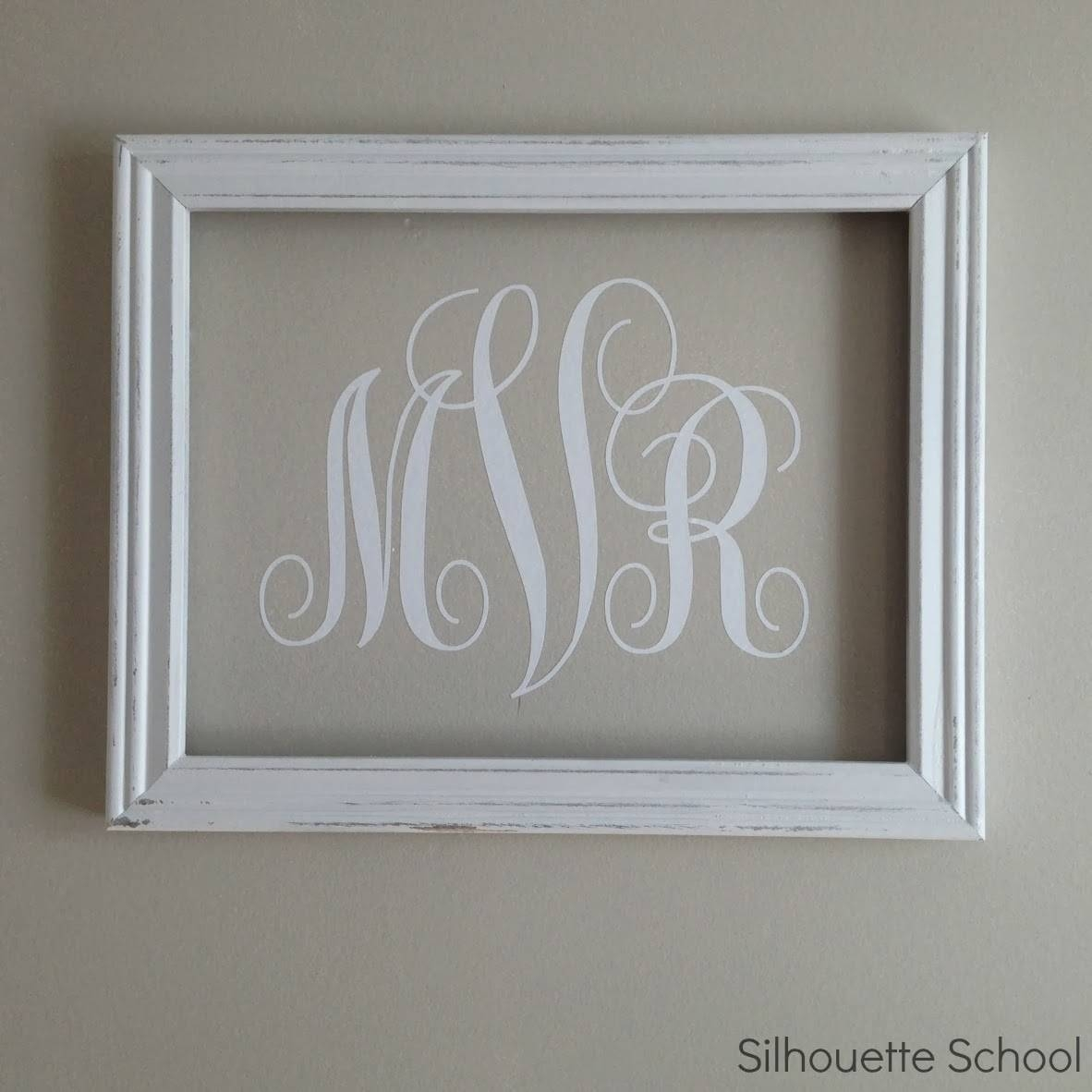 Silhouette} Vinyl Monogram Wall Art – Silhouette School Pertaining To Most Recent Framed Monogram Wall Art (View 4 of 20)