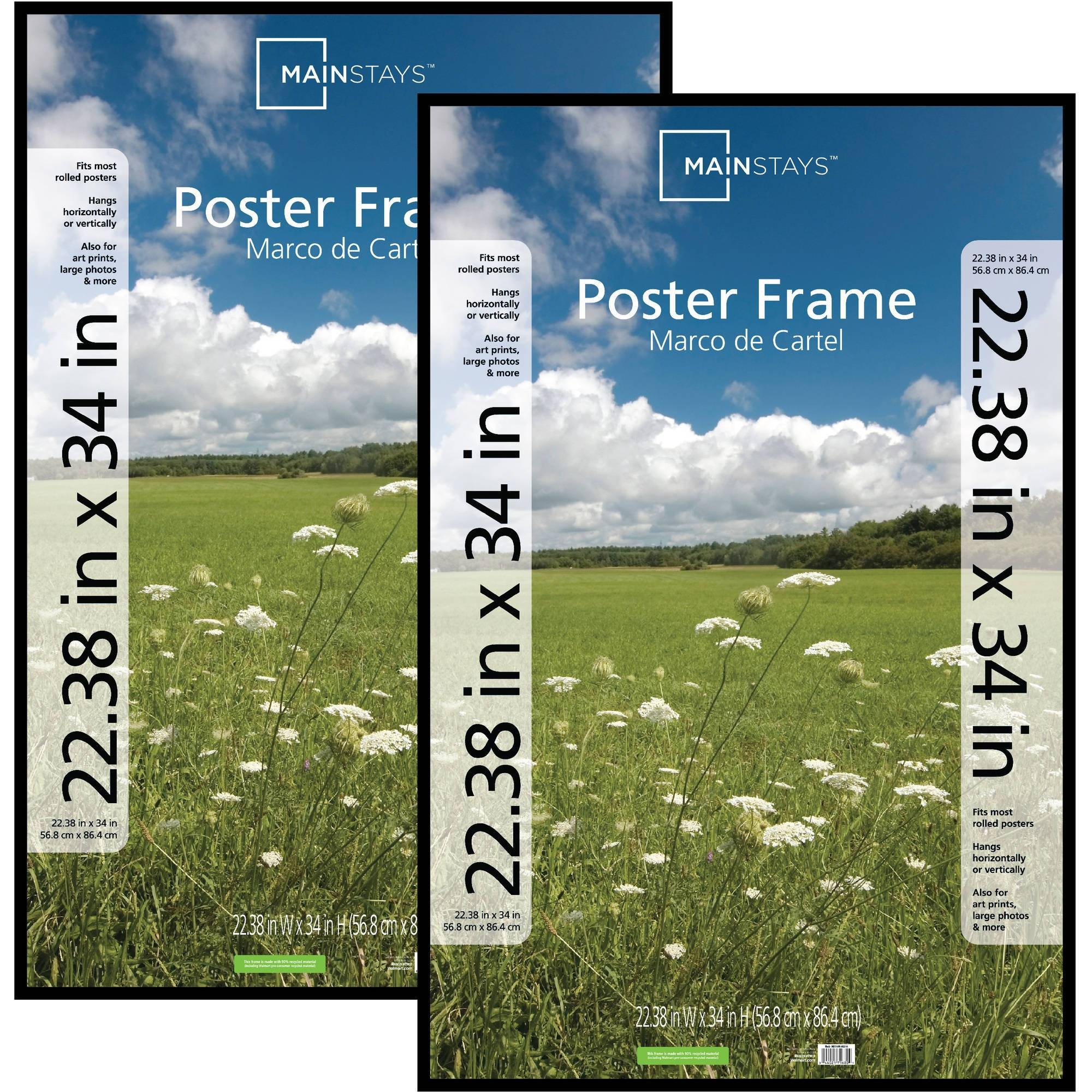 "Silver 8"" X 10"" Photo Frame, Set Of 2 – Walmart For Best And Newest Walmart Framed Art (View 17 of 20)"