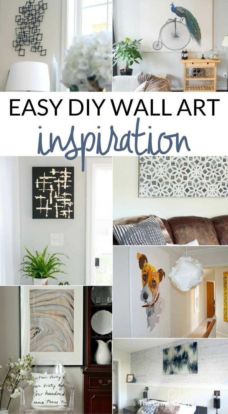 Simple Art Projects You Can Make This Weekend – The Crazy Craft Lady With Regard To Most Up To Date Farmhouse Wall Art (View 12 of 25)