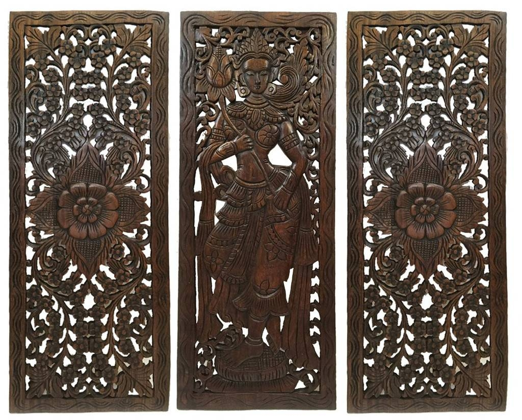 Simple Ideas Oriental Wall Art Attractive Multi Panels Oriental Pertaining To Latest Buddha Wood Wall Art (View 12 of 20)