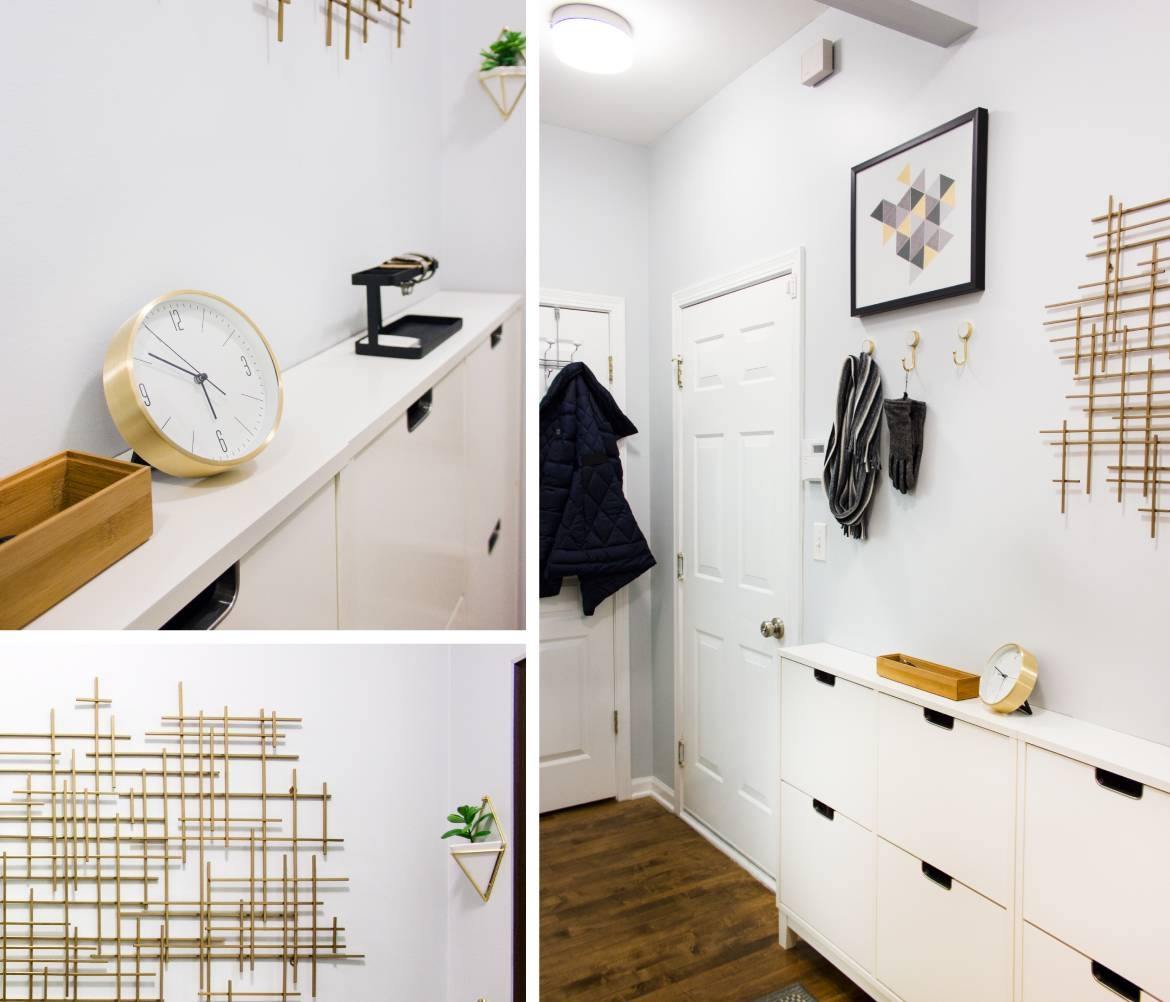 Small & Narrow Hallway – Delish&decor In Current Target Metal Wall Art (View 6 of 25)