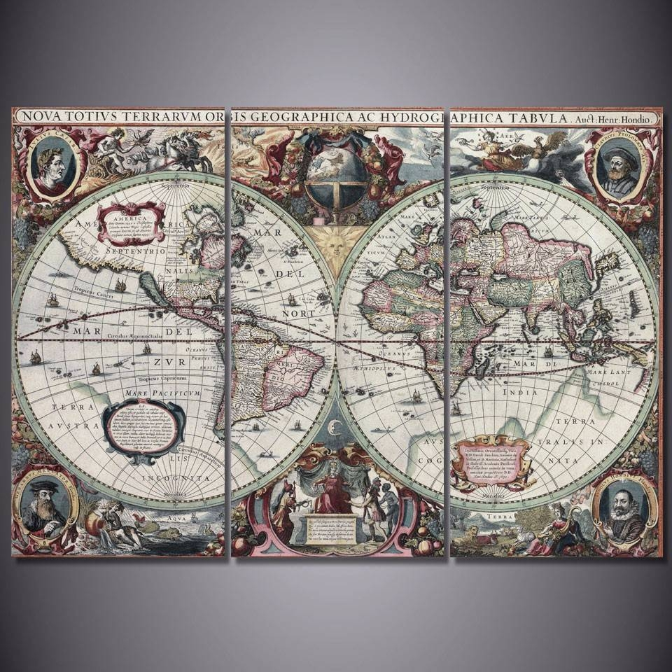 Smart World Map Poster Cheap World Map Poster Frame For Framed Hd With Regard To Best And Newest Framed World Map Wall Art (View 7 of 20)