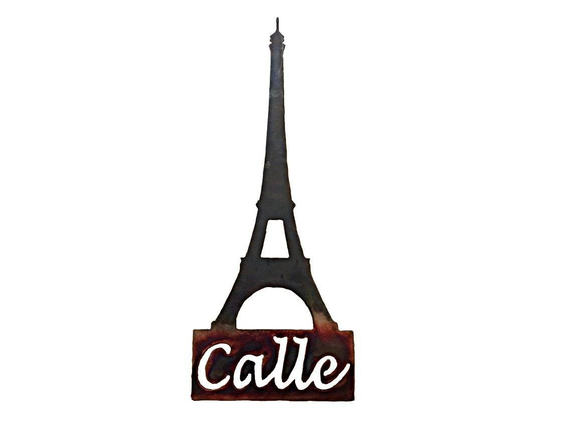 Smw113 Custom Metal Decor Eiffel Tower Wall Art – Sunriver Metal Works With Current Metal Eiffel Tower Wall Art (View 23 of 30)