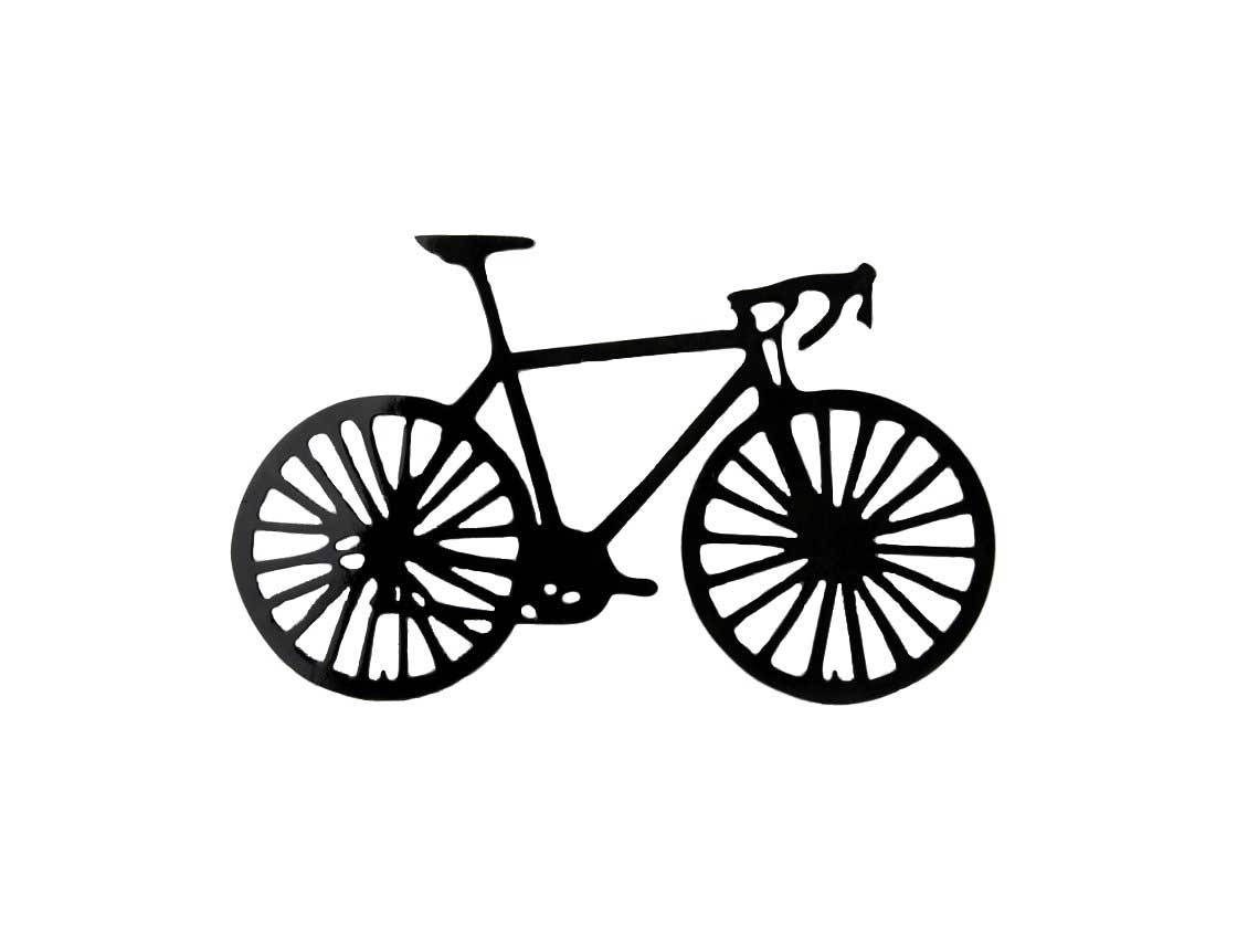 Smw162 Metal Road Bike Wall Art – Sunriver Metal Works Pertaining To Recent Metal Bicycle Art (View 19 of 20)