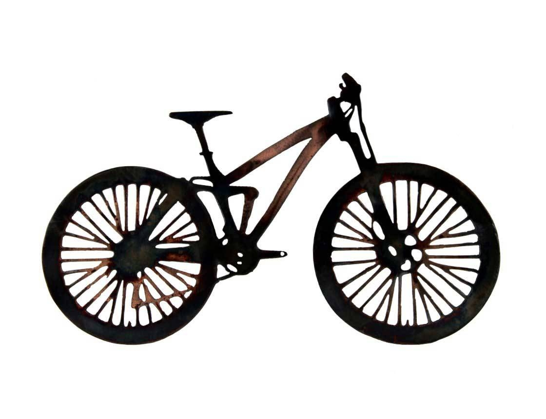 Smw233 Metal Mountain Bike Wall Art – Sunriver Metal Works Throughout Current Bicycle Metal Wall Art (View 13 of 20)