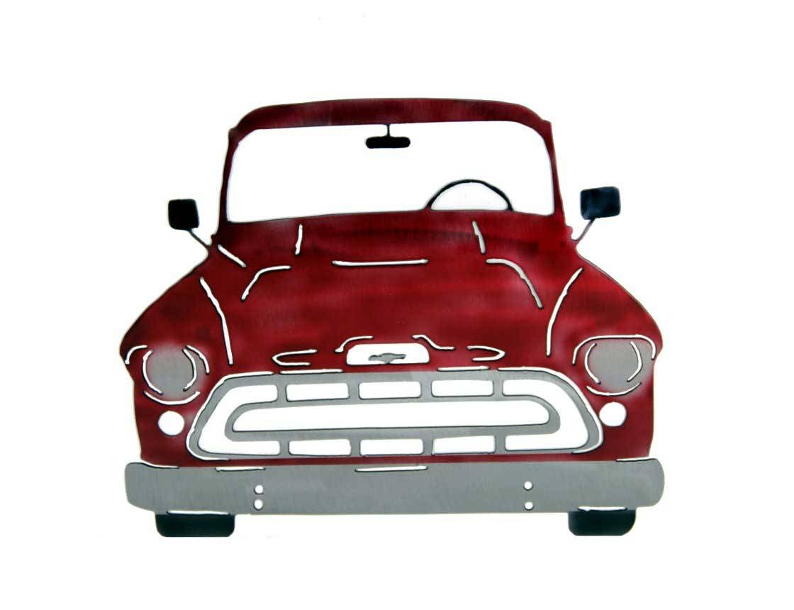 Smw267 Metal 1957 Chevy Truck Wall Art – Sunriver Metal Works With Best And Newest Classic Car Wall Art (View 22 of 25)