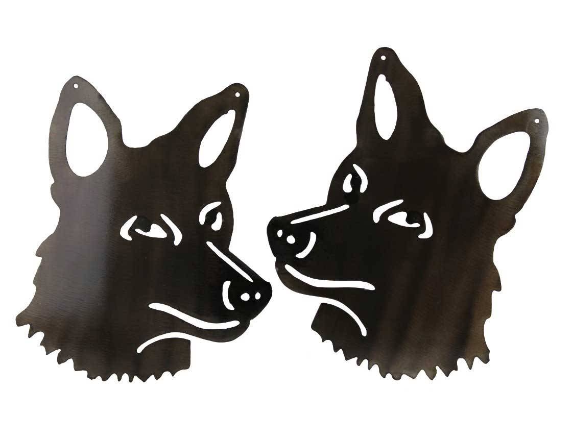 Smw362 Metal Gate Garden Wall Art Coyotes – Sunriver Metal Works Inside Most Popular Metal Gate Wall Art (View 12 of 32)