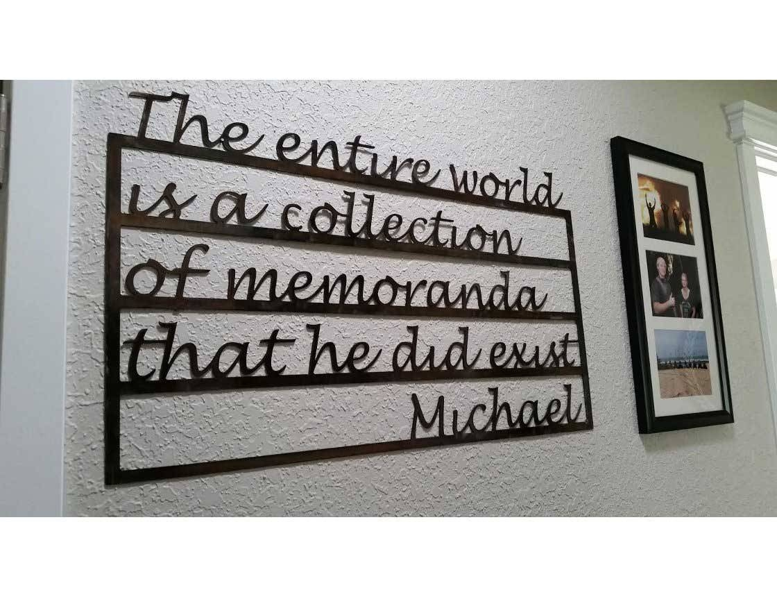 Smw533 Custom Metal Decor Word Memorial Wall Art – Sunriver Metal With Regard To Latest Metal Word Wall Art (View 18 of 20)