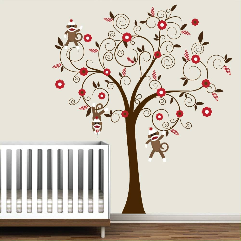 Sock Monkey Wall Decals – Popular Items For Sock Monkey Decal On Inside Most Current Sock Monkey Wall Art (View 7 of 30)