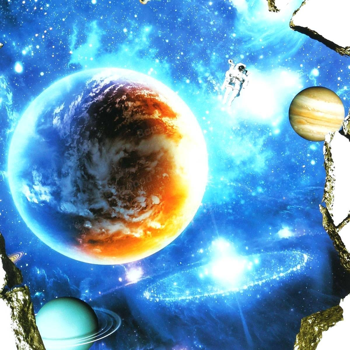 Space Decals For Walls Outer Space Wall Stickers Home Decor Mural Within 2017 Outer Space Wall Art (View 22 of 25)