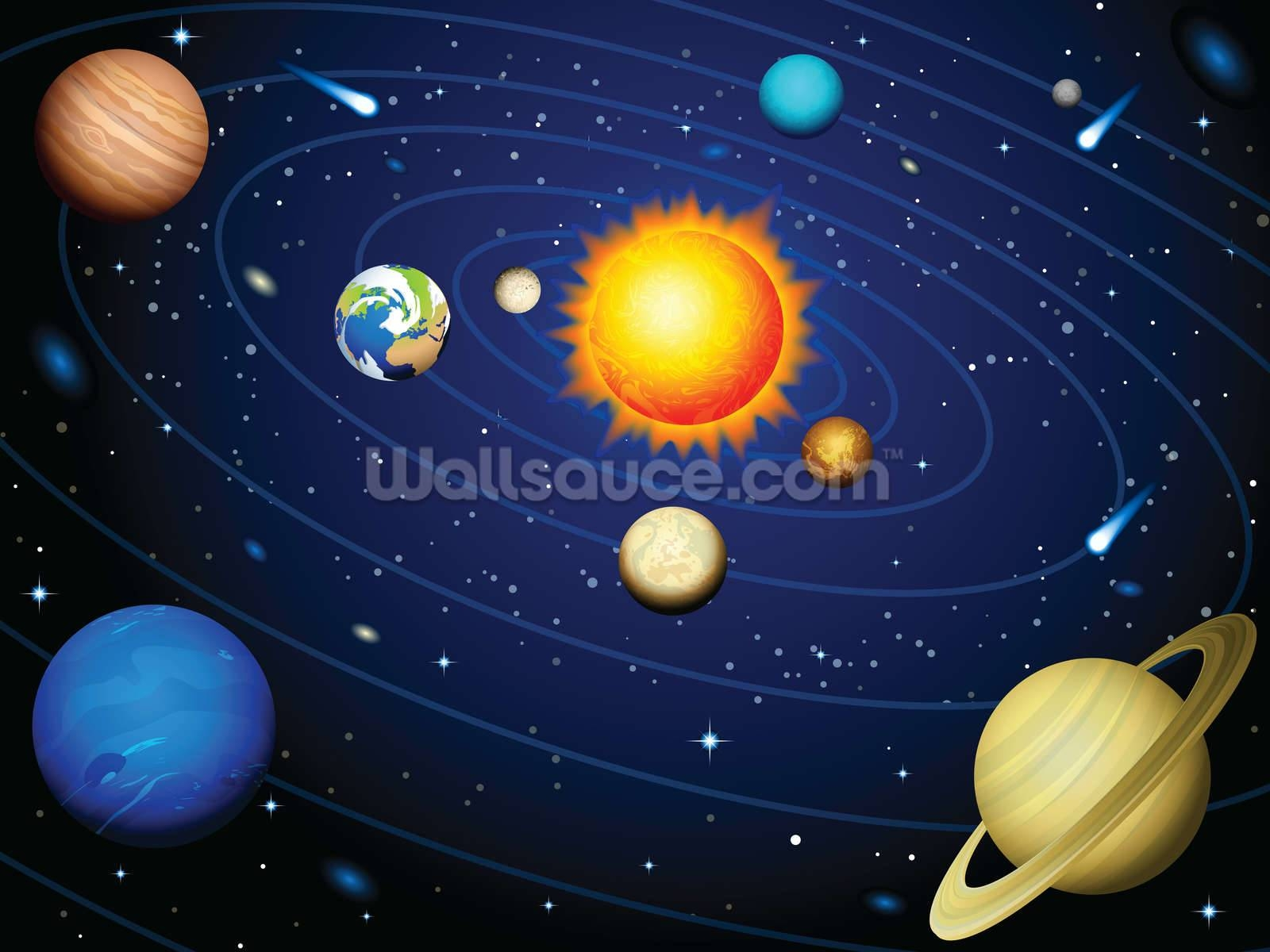 Space Wallpaper & Wall Murals | Wallsauce Inside Most Recently Released Solar System Wall Art (View 19 of 25)