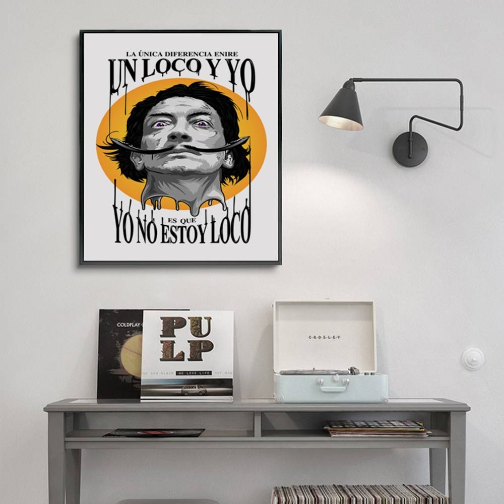 Spanish Surrealist Painter And Print Artist Salvador Dali Poster Within Most Popular Salvador Dali Wall Art (View 17 of 20)