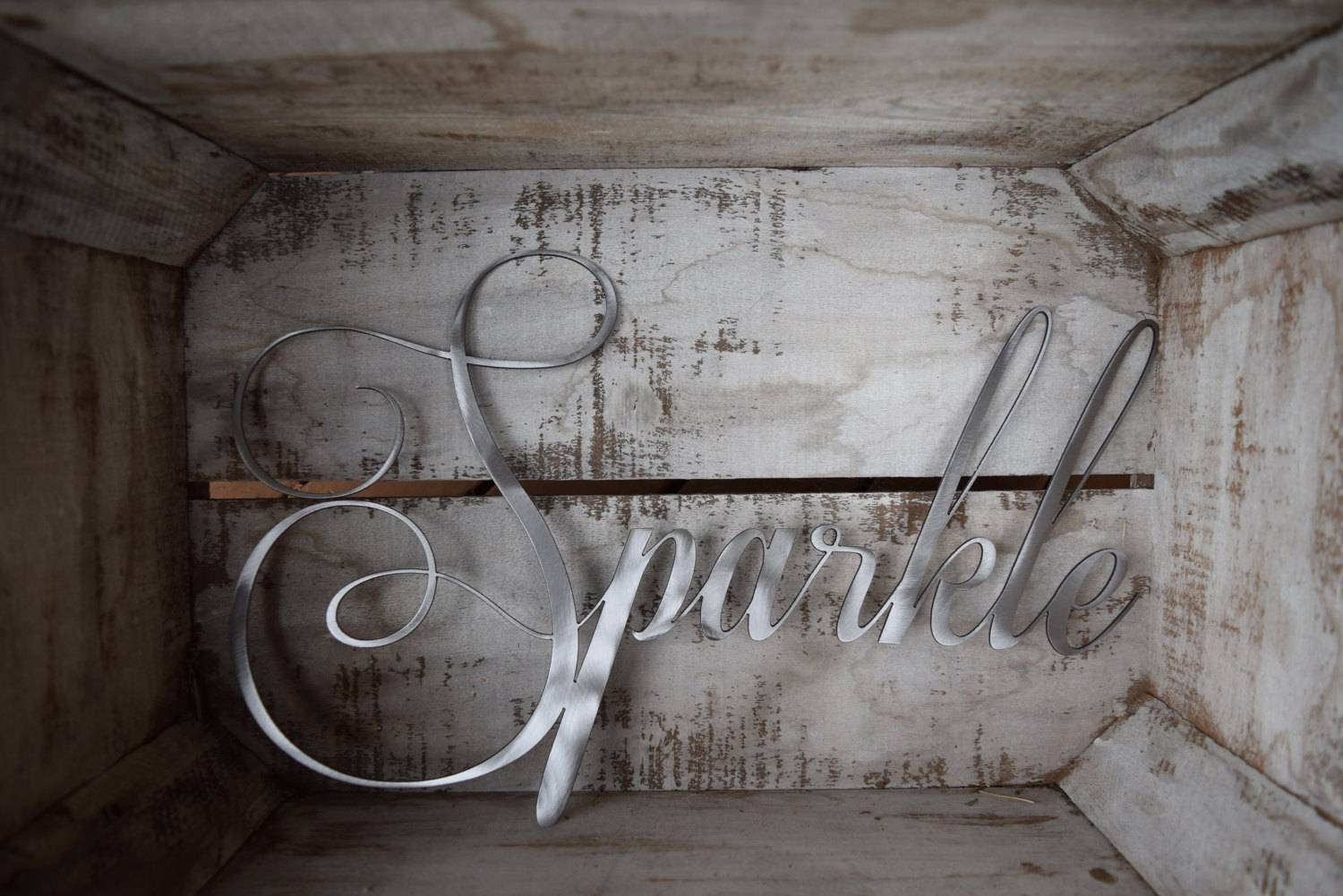 Sparkle Wall Hanging – Wall Art Metal Wall Home Decor Shabby Within Most Recent Shabby Chic Wall Art (View 20 of 30)