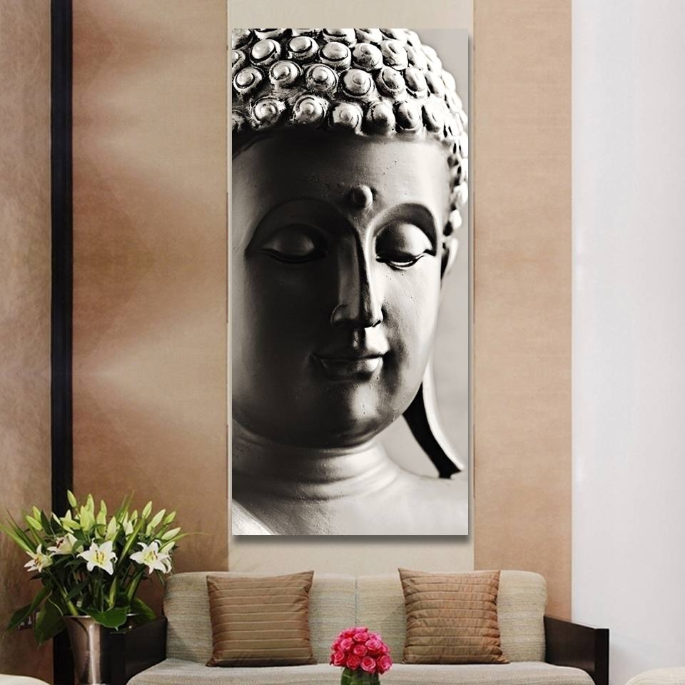 Special Chinese Styles Painting Silver Buddha Painting 3 Panels For Most Current Silver Buddha Wall Art (View 4 of 15)