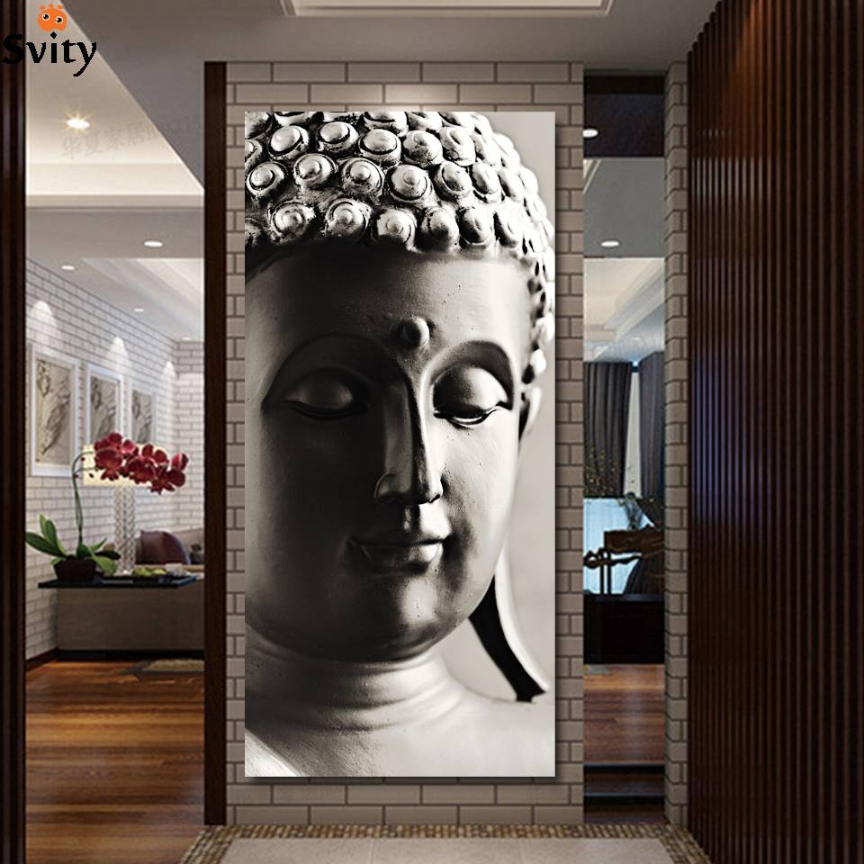 Special Chinese Styles Painting Silver Buddha Painting 3 Panels In Recent Silver Buddha Wall Art (View 13 of 15)