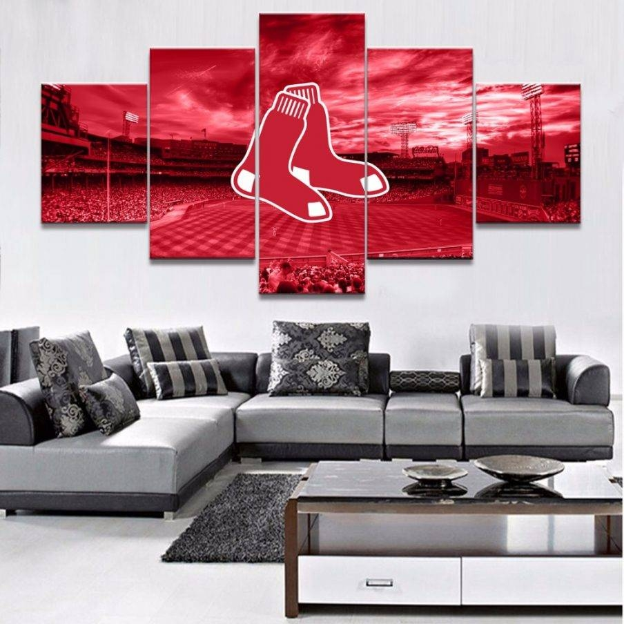 Splendid Boston Sports Teams Wall Art She Wears A Red Wall Decor With Most Popular Boston Red Sox Wall Art (View 25 of 25)