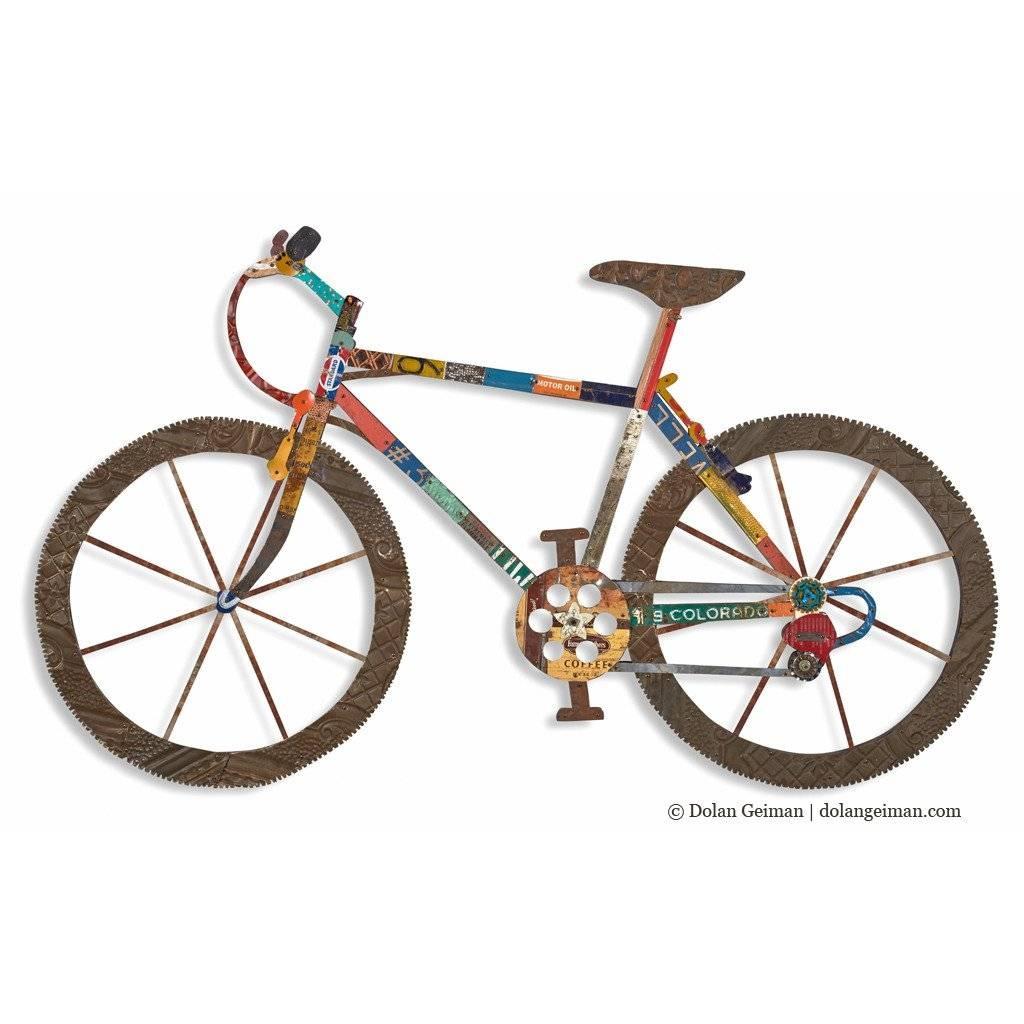 Splendid Mountain Bike Wall Art Metal Bicycle Wall Art Motorbike For Most Recently Released Metal Bicycle Art (View 15 of 20)