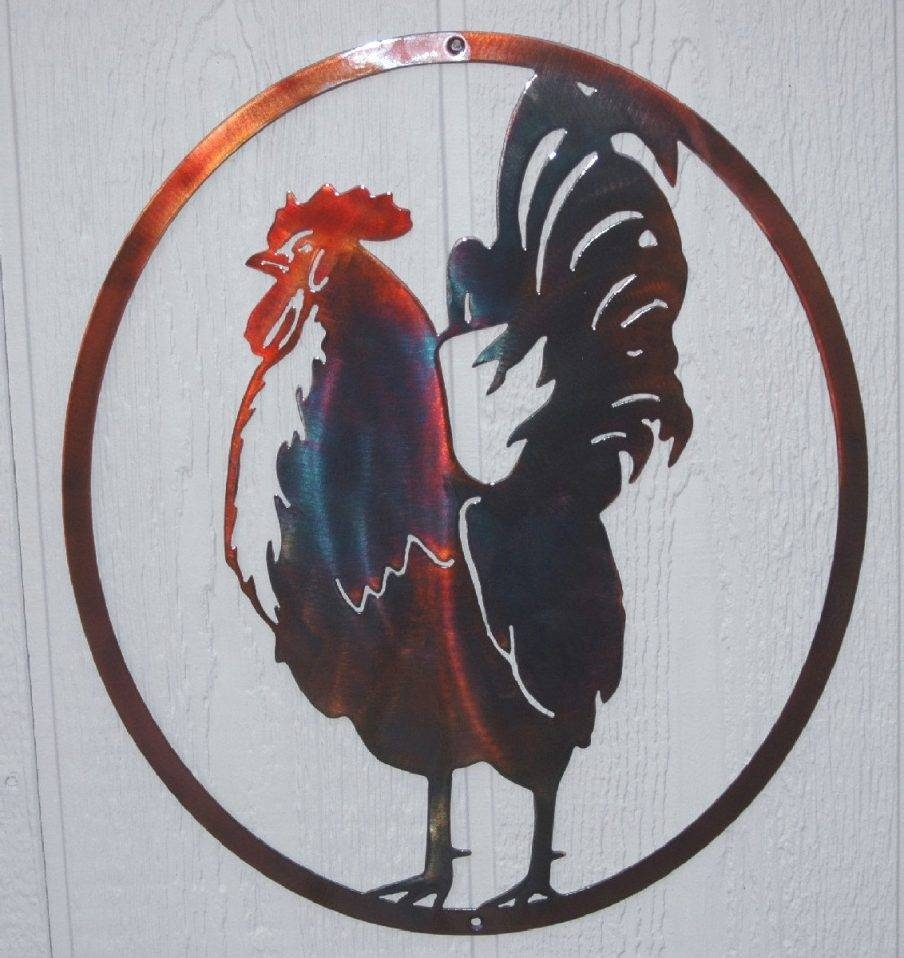 Splendid Rooster Kitchen Metal Wall Art Rooster Wall Art Design Within Most Up To Date Country Metal Wall Art (View 14 of 30)