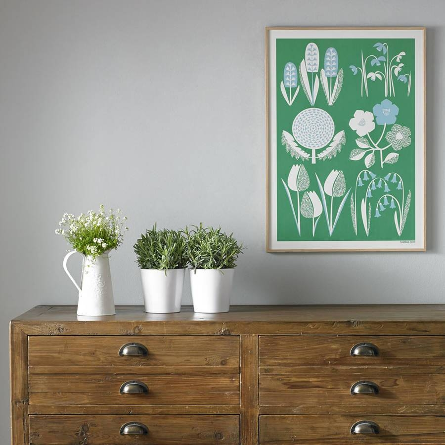 Spring Seasonal Screen Printed Wall Artbobbie Print In 2017 Seasonal Wall Art (View 5 of 20)