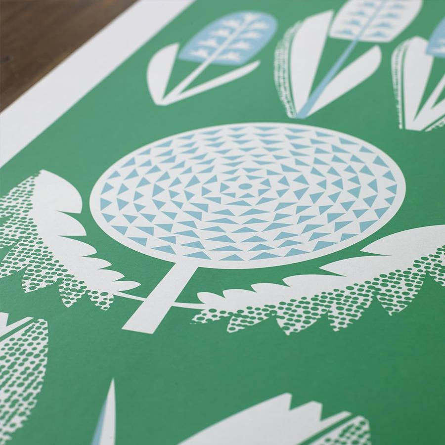 Spring Seasonal Screen Printed Wall Artbobbie Print Intended For 2018 Seasonal Wall Art (View 12 of 20)