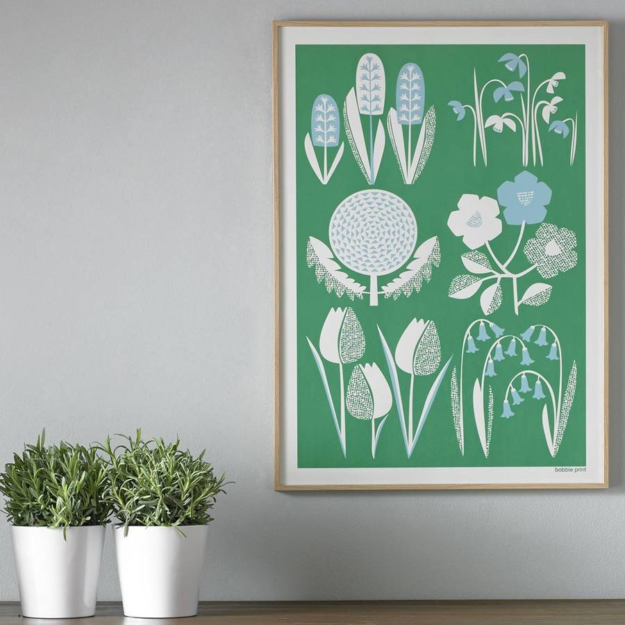 Spring Seasonal Screen Printed Wall Artbobbie Print With Regard To Most Up To Date Seasonal Wall Art (View 1 of 20)