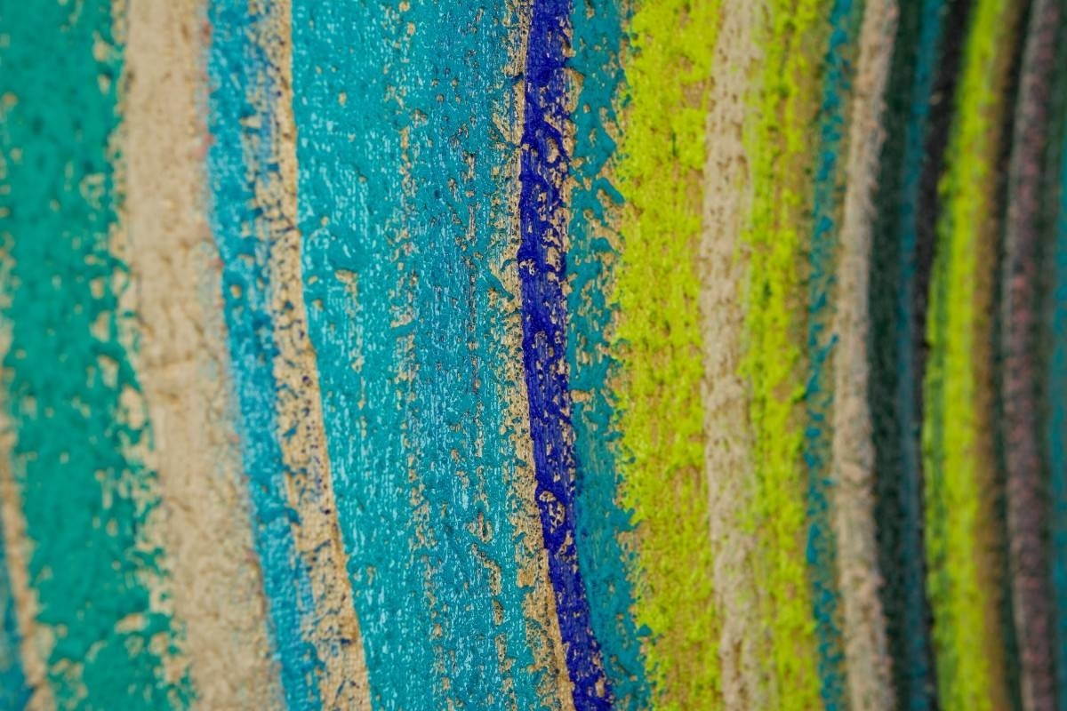 """Spring Wave 5qiqigallery 72""""x18"""" Original Modern Abstract Wall Inside Most Recent Blue And Green Wall Art (View 10 of 20)"""