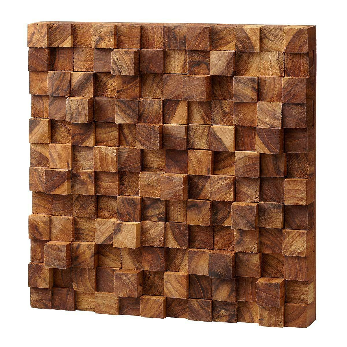 Square Takara Wall Art | Teak Wood, 3D Art | Uncommongoods Throughout Newest Wall Art On Wood (View 9 of 20)