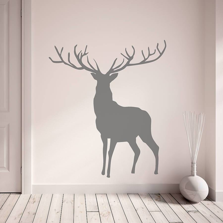 Stag And Deer Vinyl Wall Stickersoakdene Designs Regarding Most Up To Date Stag Wall Art (View 11 of 20)